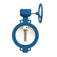 Buy WBGXD372X wsingle eccentric wormed wafer type soft seat butterfly valve 1200mm DN at wholesale prices