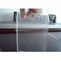 Quality Colored / Clear Patterned Glass , 3mm - 6mm Thickness Rain Pattern Glass for sale
