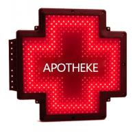 Quality Plastic Case LED Pharmacy Cross Signs Hanging Screen Single Color Cross Light for sale