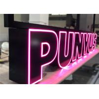 Quality Custom Led Channel Letters , Front Lit Illuminated Signage Letters For Business Store for sale