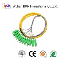 Quality Single mode 0.9mm Pigtail Fiber Optic Cable With APC Connector for sale