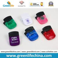 Quality Plastic Stationery Magnetic Clip W/Black Rubber Handle in Transulcent Colors for sale
