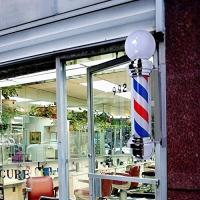 Quality Rotating Salon Barber Pole Light With Electric Motor Waterproof Outdoor Use for sale