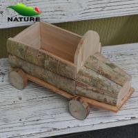 Quality Wooden Car Shaped Flower Planter for Garden for sale