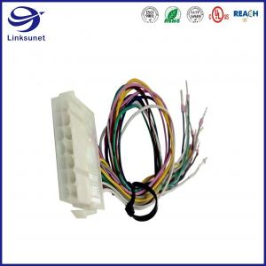Quality Soldering Wire Harness With Mini Fit Jr 5559 4.2mm Plug Locking Ramp Connectors for sale