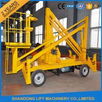 Quality 13m CE Crank Arm Trailer Mounted Boom Hire for Aerial Work Platform 200kg Loading Capacity for sale