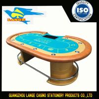 China Golden High Quality Two Board Casino Table , Texas Hold em Table With Wooden Leg wholesale