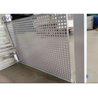China PVC Coated Round Steel Punching Hole Mesh Used For Fence /Perforated Metal Screen on sale