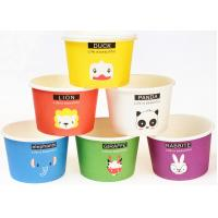 Quality Eco Friendly Custom Branded Ice Cream Cups Disposable With Spoons And Lids for sale