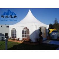 Quality Advertising Pagoda Party Tent With White PVC Window / Sidewall Curtain for sale