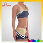 Quality Customize Basketball Cheerleading Wear Blue Cheerleader Costume for sale