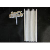 Quality 10pcs Long 10 Holders Birthday Celebration Decorating Candles With Glitter for sale