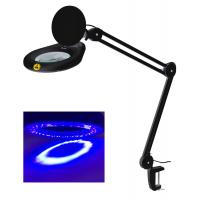 China Ultraviolet Small Led Magnifying Desk Lamp Flexible 5 Inch 127mm Lens on sale