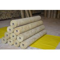 Quality Thermal Rockwool Pipe Insulation Light Weight Thickness 25mm - 100mm for sale