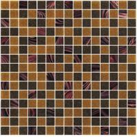 Quality Sanding brown 20mm glass mosaic blend pattern for boarder decoration for sale