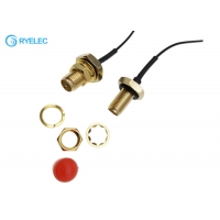 Quality Waterproof RP SMA Female Bulkhead Jack to U.FL IPEX Converter Cable For Bluetooth LPWAN for sale