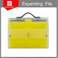 China office supplies A4 plastic document holder PP expanding file folder with handle on sale