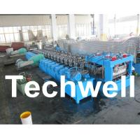 Quality Galvanized Steel Silo Corrugated Roll Forming Machine With 18 Forming Stations for sale