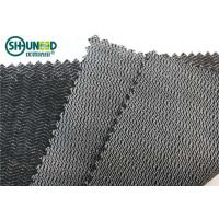 Quality Black Color Woven Interlining Napping PA Adhesive Tricot Interlining For Suit And Jacket for sale