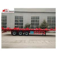 Quality 24/32/48/53/50 Foot Semi Truck Flatbed Trailer With Leaf Spring Suspension for sale