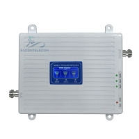 Quality IP40 300M2 900 1800 2100mhz Triple Network Signal Booster for sale