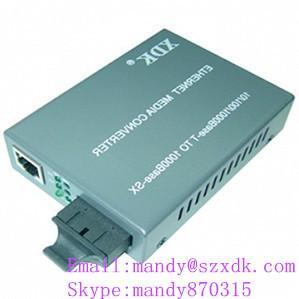 Quality 2 rj45 port single mode 10/100M fiber optic media transceiver for sale