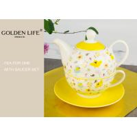 Quality Nice Flower Design Porcelain Tea Coffee Set With BSCI / Disney Certification for sale