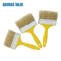 Quality 38-44mm Length Natural Paint Brush , Yellow Handle Pure Bristle Paint Brush for sale