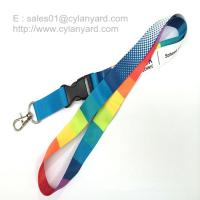 Flat sublimation lanyard with release buckle