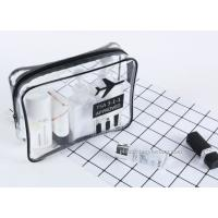 Buy Handmade Clear Travel Toiletry Bag / Water Resistant Airline Carrier Bag at wholesale prices