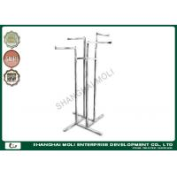 Quality Adjustable height free standing 4 way garment rack hanging clothing for sale
