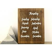 Quality Non Black Felt Menu Letter Board Solid Oak Wooden Message Board with Stand for sale