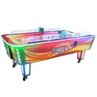 Quality Child Amusement Game Machines Coin Operated L Size Curved Air Hockey Table for sale