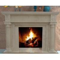 Quality Home Decoration Elegant Natural Indoor Carved Marble Fireplace On Sale for sale