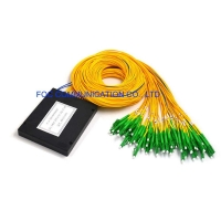 Buy cheap 2×64 ABS Fiber PLC Splitter LC APC 1650nm FTTC For Passive Optical Networks from wholesalers