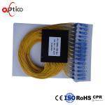 Quality PON G657A1 1x64 Optical PLC Splitter , 2.0mm SC Connectors Splitter For Fiber Optic Cable for sale