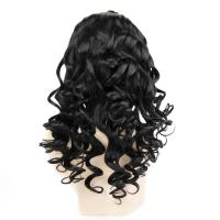 Quality 20inch ladies wig, real hair sets, delicate hair sets 1# color front lace head cover partial deviation for sale