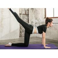Buy Summer Sexy Fashion Yoga Sportswear Suits Quick Dry Black / White Color For Gym at wholesale prices