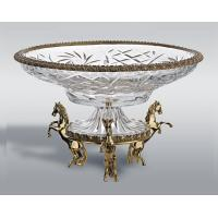 Quality Crystal Fruit Bowl/Fruit Tray/Fruit plate With Brass Base for sale