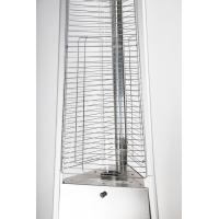China Stainless Steel Electric Ignition Glass Tube Patio Heater Natural Gas Powered on sale