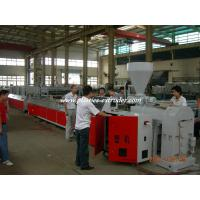 Quality Electric Cable Trunking Plastic Profile Extruder / PVC Electrical Conduit Pipe Making Machine for sale