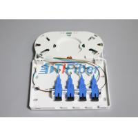Quality Wall mounted SC UPC APC Fiber Optic Terminal Box with ABS PC Material FTTH for sale
