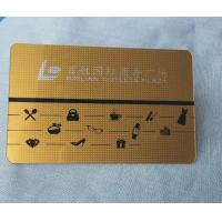 China Brushed glossy/matt golden color laser cut metal business card,metal namecard on sale
