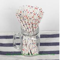 Quality Five Pointed Star Pattern Colored Paper Straws For Cold Drink , Eco Friendly for sale