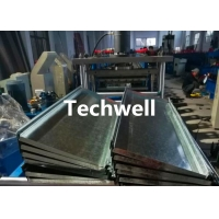 Buy cheap Size Adjustable Storage Shelf Rack Panel Roll Forming Machine from wholesalers