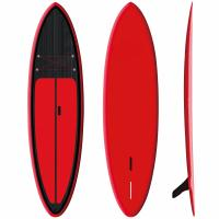 """Red Inflatable SUP Board 9'6"""" Firberglass Plate Design Fast Speed High Durability"""