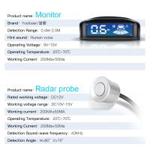 Car Parking Camera Sensor 4 Sensors Aid Kits Car Monitor Parking Sensor