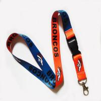 Buy cheap Metal crimp woven neck strap from wholesalers