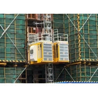 Buy cheap Rack Pinion Safe And Durable 2000Kg Payload Capacity Material Elevator Lifts from wholesalers