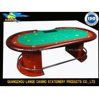 China Red Luxury Texas Holdem Poker Table , Solid Wood Blue Table Top Poker Table wholesale